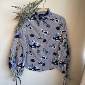 💕3 for $25💕 Balloon sleeve button shirt